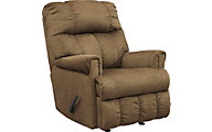 Ashley Craggly Tan Rocker Recliner