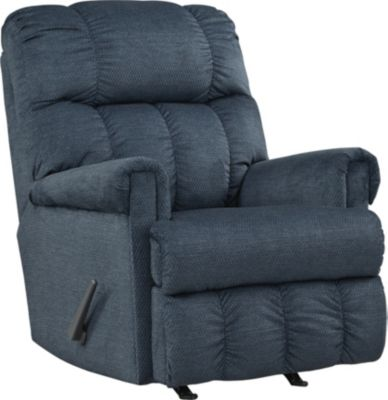 Ashley Craggly Blue Rocker Recliner
