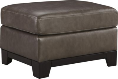 Ashley Derwood Leather Ottoman