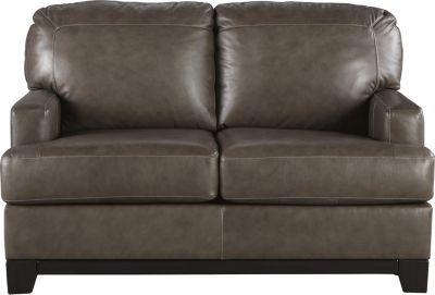 Ashley Derwood Leather Loveseat