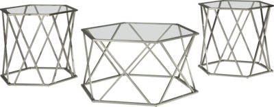 Ashley Madanere Coffee Table & 2 End Tables