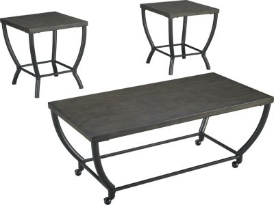 Ashley Champori Coffee Table & 2 End Tables