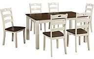 Ashley Woodan 7-Piece Dining Set