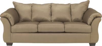 Ashley Darcy Microfiber Tan Sofa