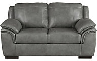 Ashley Islebrook Iron Leather Loveseat