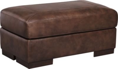 Ashley Islebrook Canyon Leather Ottoman
