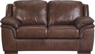 Ashley Islebrook Canyon Leather Loveseat