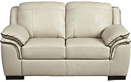 Ashley Islebrook Vanilla Leather Loveseat