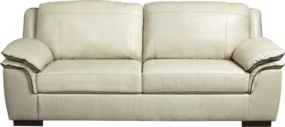 Ashley Islebrook Vanilla Leather Sofa