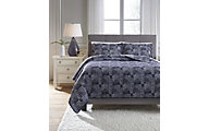 Ashley Jabesh Blue 3-Piece King Quilt Set