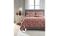 Ashley Jabesh Orange 3-Piece Queen Quilt Set