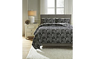 Ashley Jabesh Black 3-Piece King Quilt Set