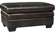 Ashley Hannalore Leather Ottoman