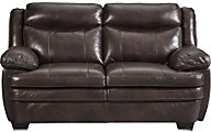 Ashley Hannalore Leather Loveseat