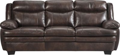Ashley Hannalore Leather Sofa