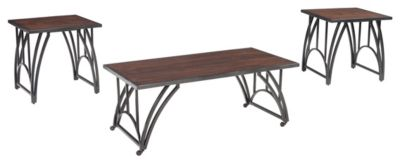 Ashley Barnallow Coffee Table & 2 End Tables