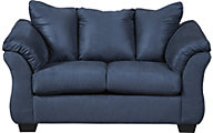 Ashley Darcy Collection Blue Loveseat