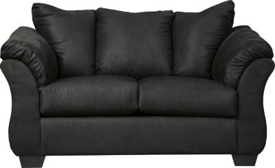 Ashley Darcy Collection Black Loveseat