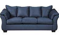 Ashley Darcy Blue Microfiber Full Sleeper