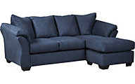 Ashley Darcy Collection Blue Sofa Chaise