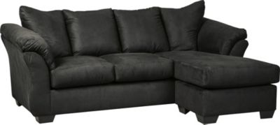 Ashley Darcy Black Sofa Chaise