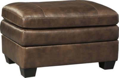 Ashley Gleason Leather Ottoman