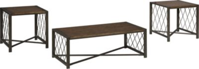 Ashley Harpan Coffee Table and 2 End Tables