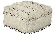 Ashley Celeste White Pouf