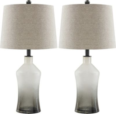 Ashley Nollie Glass Table Lamp (Set Of 2)