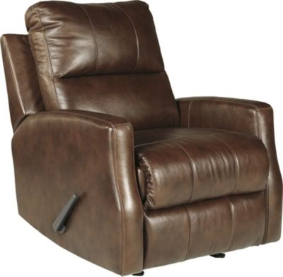 Ashley Gulfbay Leather Rocker Recliner