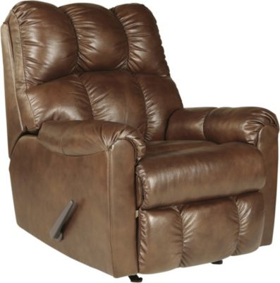 Ashley Denaraw Canyon Leather Rocker Recliner