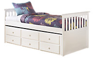 Ashley Lulu Twin Bed with Storage Trundle