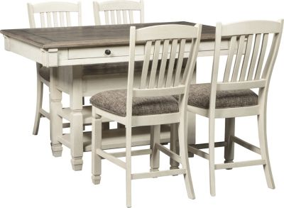 Ashley Bolanburg Counter Table & 4 Stools