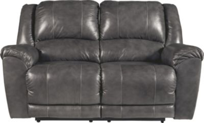 Ashley Persiphone Leather Reclining Power Loveseat