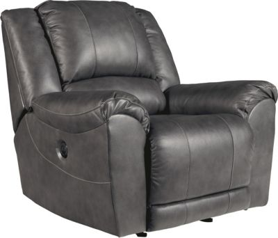 Ashley Persiphone Leather Power Rocker Recliner