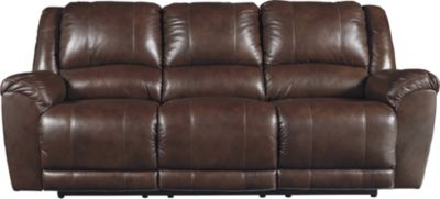Ashley Persiphone Brown Leather Reclining Sofa