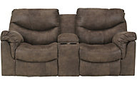 Ashley Alzena Reclining Loveseat with Console