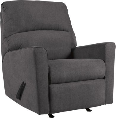 Ashley Alenya Charcoal Rocker Recliner