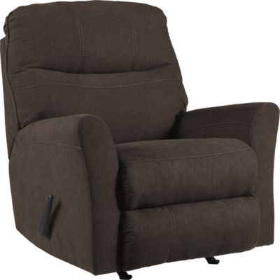 Ashley Maier Walnut Rocker Recliner