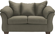 Ashley Darcy Microfiber Green Loveseat