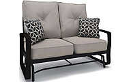 Ashley Castle Island Outdoor Loveseat Glider With Cushion
