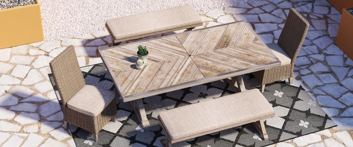 patio and outdoor tables