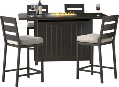 Ashley Perrymount Fire Pit Bar And 4 Stools