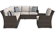Ashley Salceda 2-Piece Outdoor Sectional & Chair
