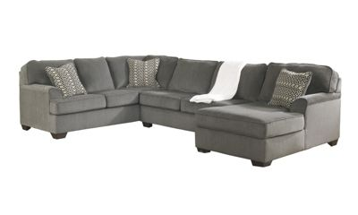 Ashley Loric Right-Side Chaise 3-Piece Sectional