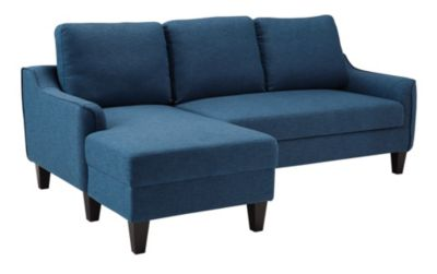 Ashley Jarreau Blue Queen Sleeper Sectional Sofa Chaise