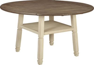 Ashley Bolanburg Round Drop Leaf Counter Table