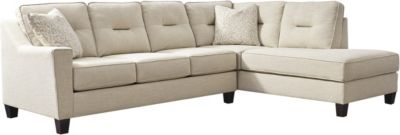 Ashley Kirwin Nuvella Sand 2-Piece Sectional