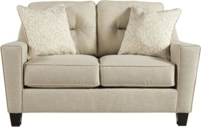 Ashley Forsan Nuvella Sand Loveseat