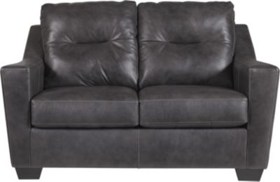 Ashley Kensbridge Gray Leather Loveseat